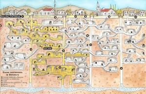 مدينة ديرينكويو تحت الأرض  Derinkuyu Underground City