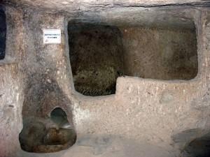 معصرة النبيذ والزيتون في مدينة ديرنكويو تحت الأرض